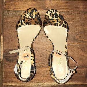 Unisa leopard print heels